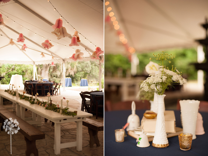 Charming Tented Reception at the Legare Waring House in Charleston