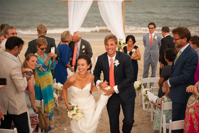 Newlyweds at Sanderling Resort in Outerbanks North Carolina