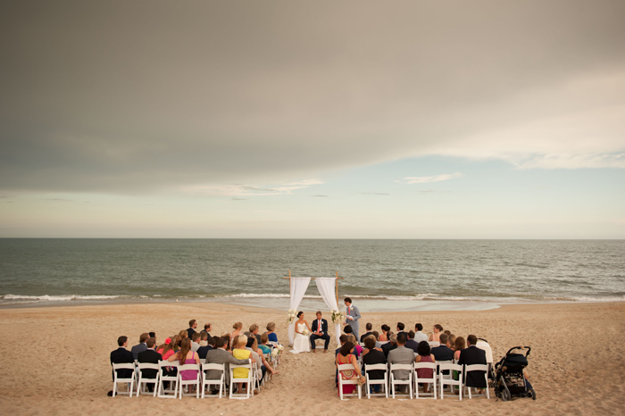 Beach Wedding Ceremony at the Sanderling Resort Outerbanks North Carolina
