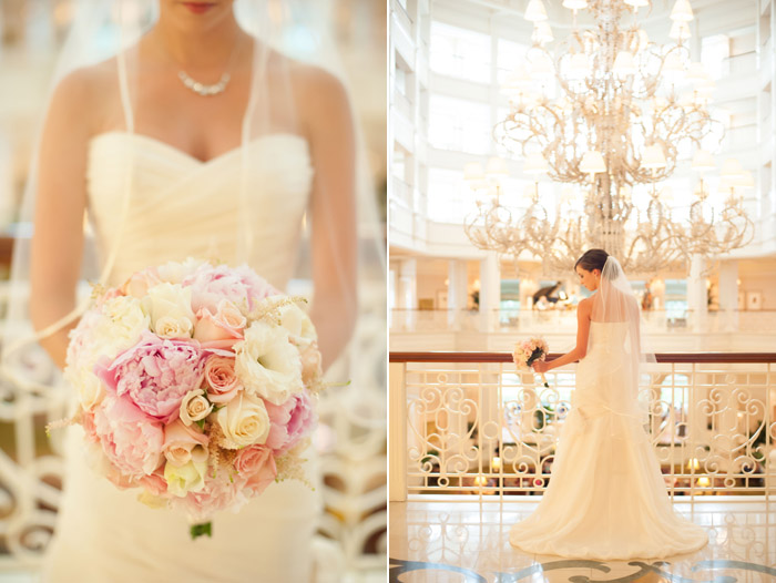Bridal Portraits in Lobby of Grand Floridian