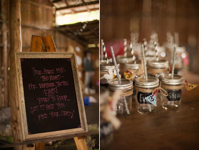 Mason Jars at Barn Reception Space in Tennessee