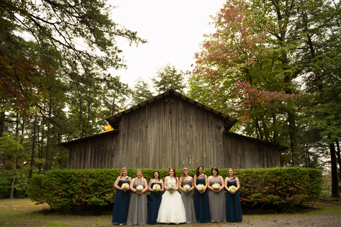 Bridesmaids In Front of a Barn In Tenneessee
