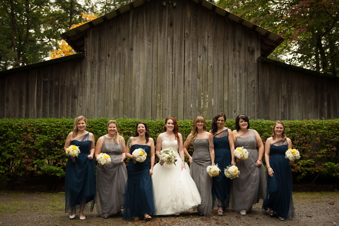 Grey Bridesmaids Dresses and Navy Bridesmaids Dresses in Tennessee