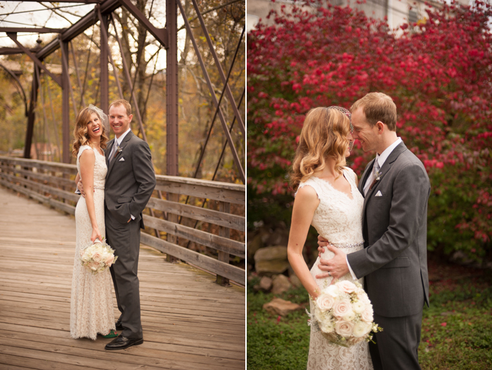 Bride and Groom at Phoenixville Foundry