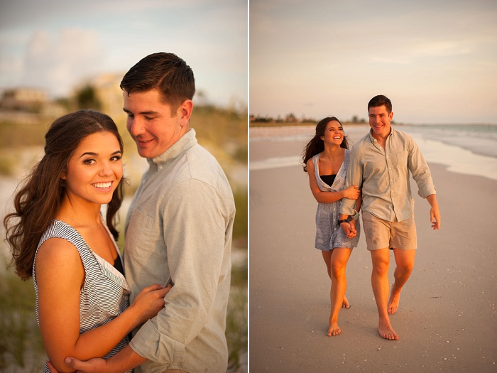 neutral colored outfits for engagement session on st pete beach