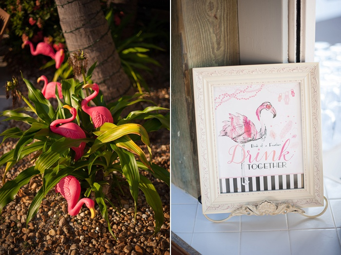 Flamingo Wedding Decorations in Boca Grande Florida