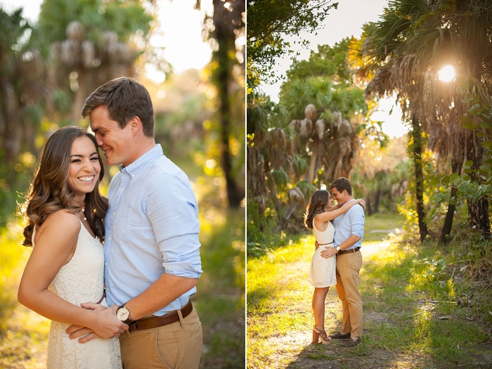 Cream colored sun dress is a great idea for a Florida engagement session