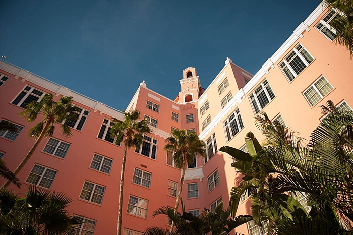 Courtyard View of the Don Cesar during a wedding