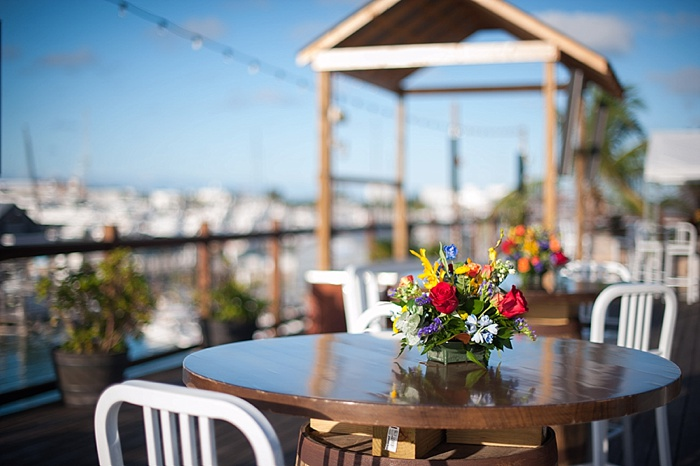 The rooftop deck at the waterfront brewery is a great place for a wedding reception