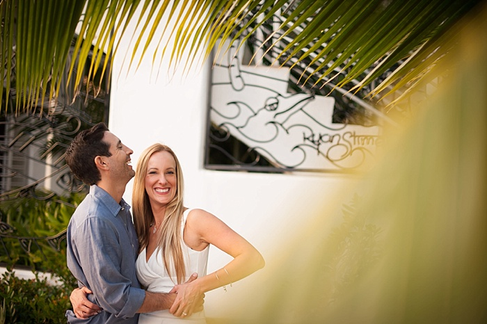 Bride and Groom Poses For Wedding Photo in Key West Florida