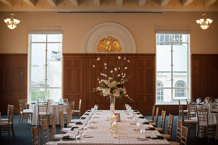 Tall Centerpieces work well with the ceiling height of Le Meridien Tampa