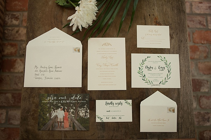 Reaves Engraving does beautiful wedding invitations in Tampa Florida
