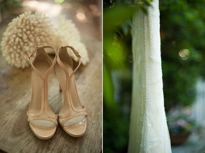 Rosa Clara beaded wedding dress paired with nude heels are a must have this Spring 2018 for weddings