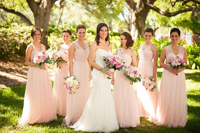 blush tone BHLDN bridesmaids dresses for Spring 2018 wedding