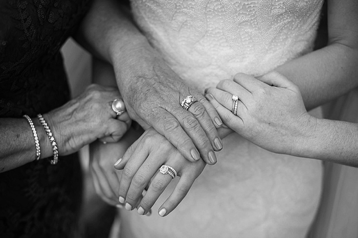 3 generations of women wedding rings