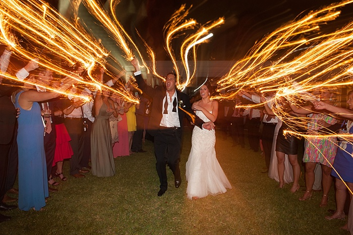 dragging your shutter creates linear effect with sparkler exit