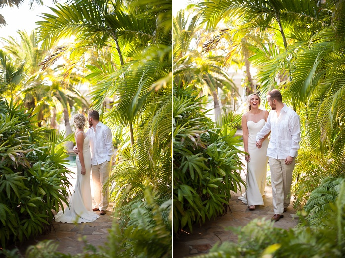 wedding elopement with Bride and groom portraits at the Cheeca Lodge