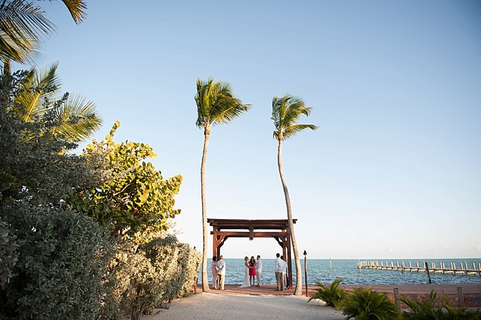Ceremony location for intimate elopement in Islamorada Florida