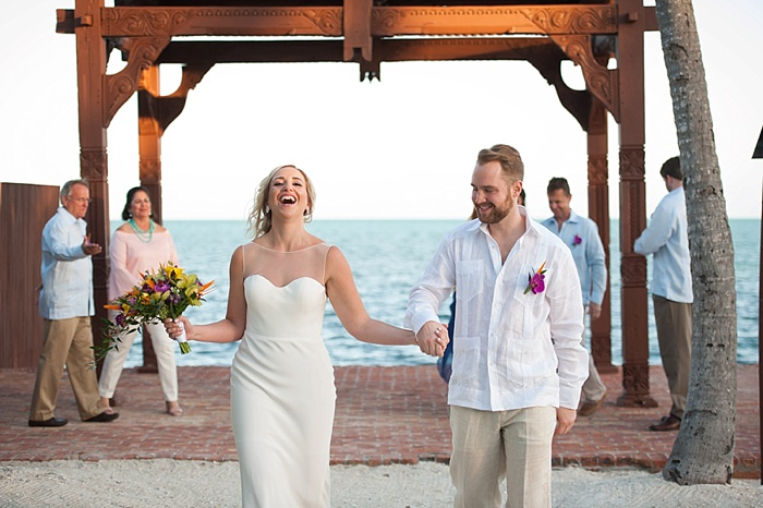 Islamorada excitement as newlyweds walk down the aisle together