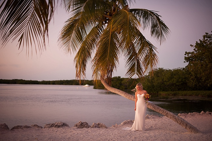 Bride and Groom portraits at Morada Bay in Islamorada Florida Keys