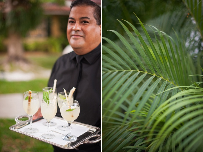 authentic cuban mojitos at a backyard wedding in Coral Gables