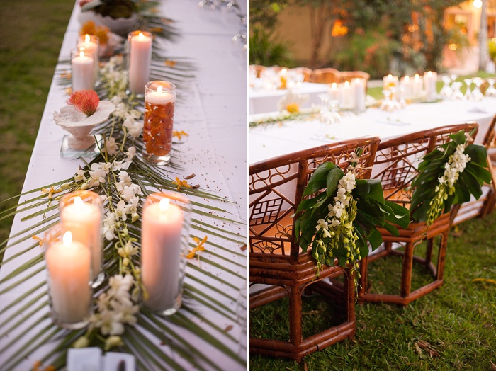 head wedding table with Polynesian chairs