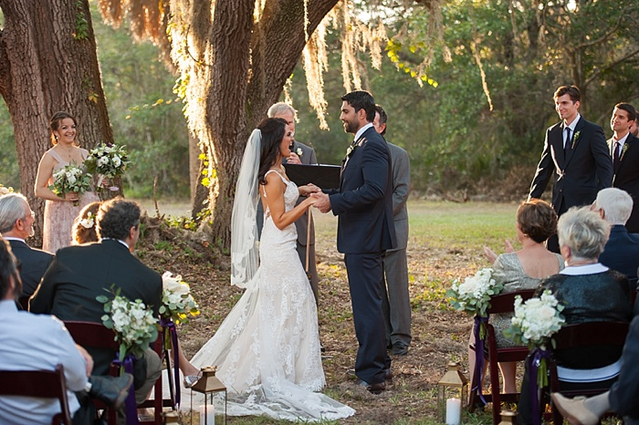 Wedding ceremony under a great oak tree