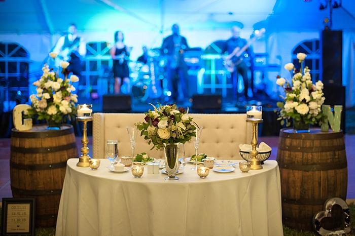 A Chair affair designed unique sweetheart table wedding reception